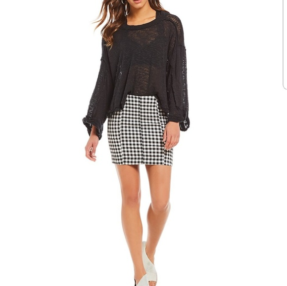 2df89f916 Free People Dresses & Skirts - Free People Modern Femme Novelty Gingham  Skirt